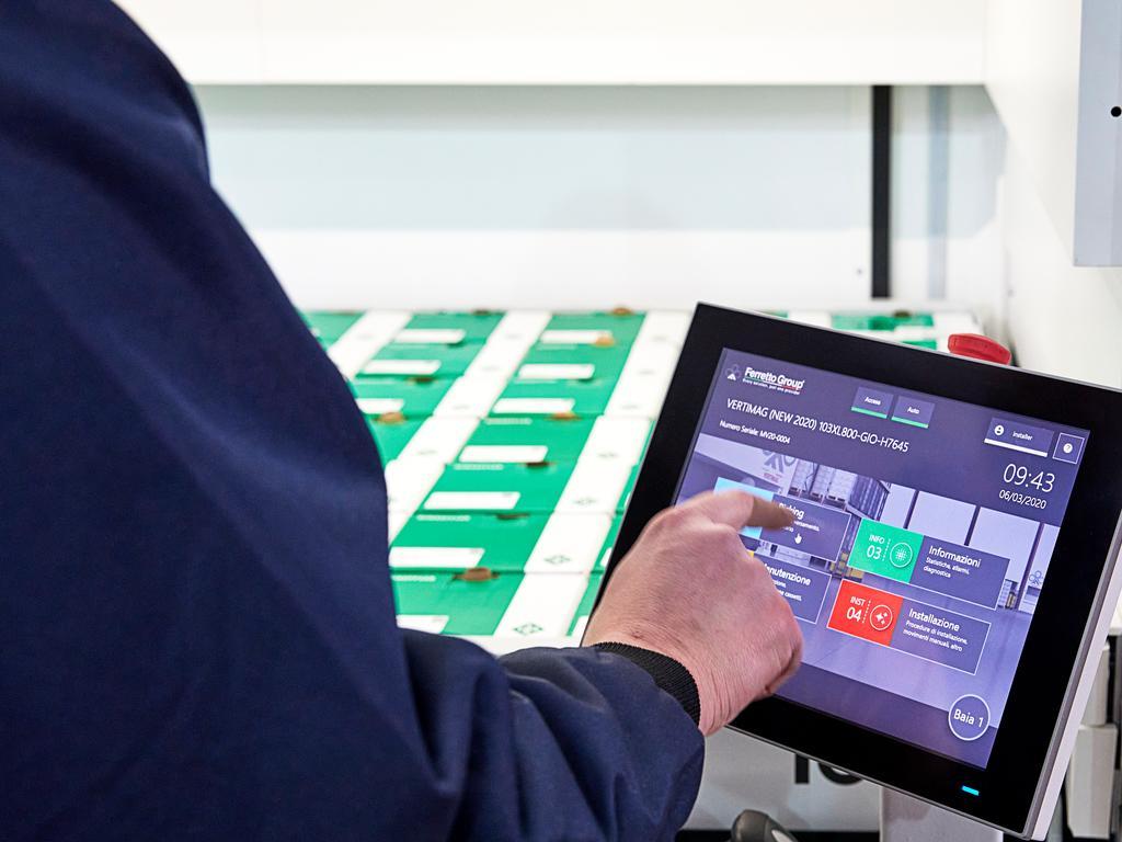 La eficiencia de un almacén automático