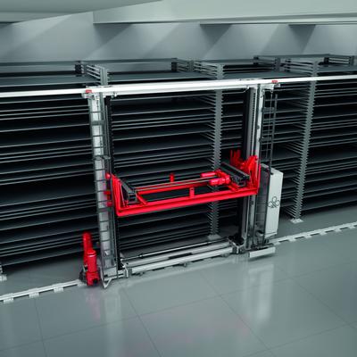 棒材管材板材垂直库的自动存取系统