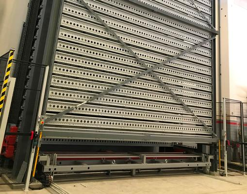 Vertical lift module for metal sheet Steel Tower