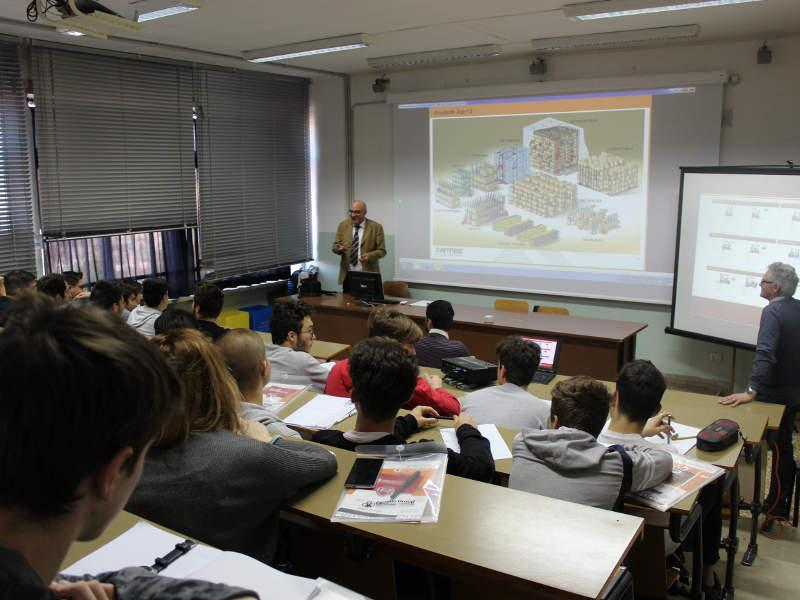 Ferretto Group teacher for one day: lesson of Applied Logistics at the institute Istituto Tecnico Industriale Statale A. Rossi in Vicenza