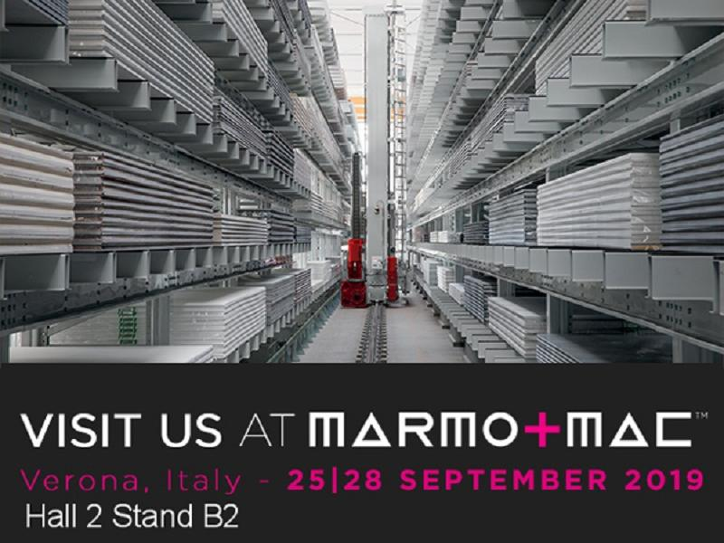 Ferretto Group's automated storage systems for slabs at Marmomac 2019 (Verona)