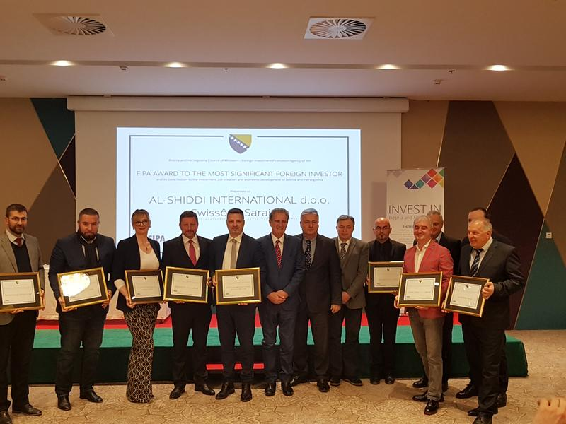 Ferretto Group awarded  as one of the most important foreigner investor in Bosnia