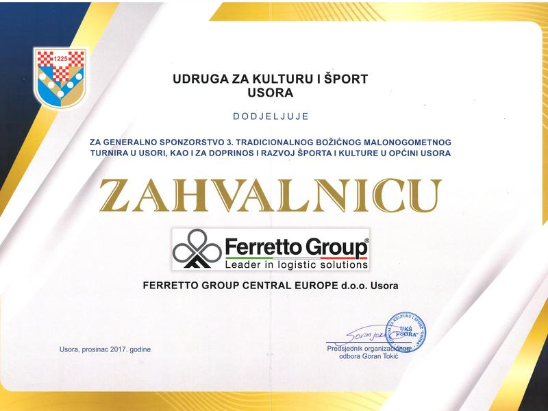 Ferretto Group Central Europe supports Sport and Culture
