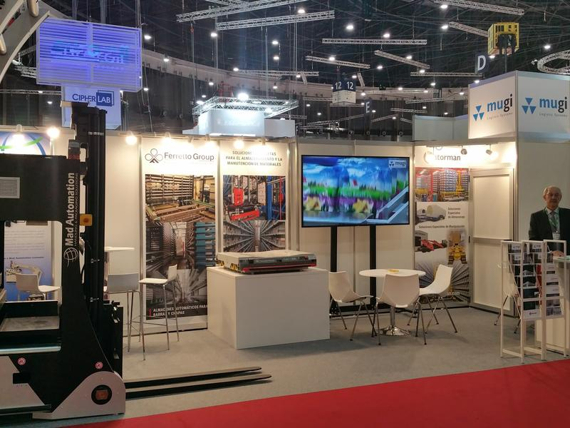 Ferretto Group exhibits at Logistics and Distribution - Madrid Fair